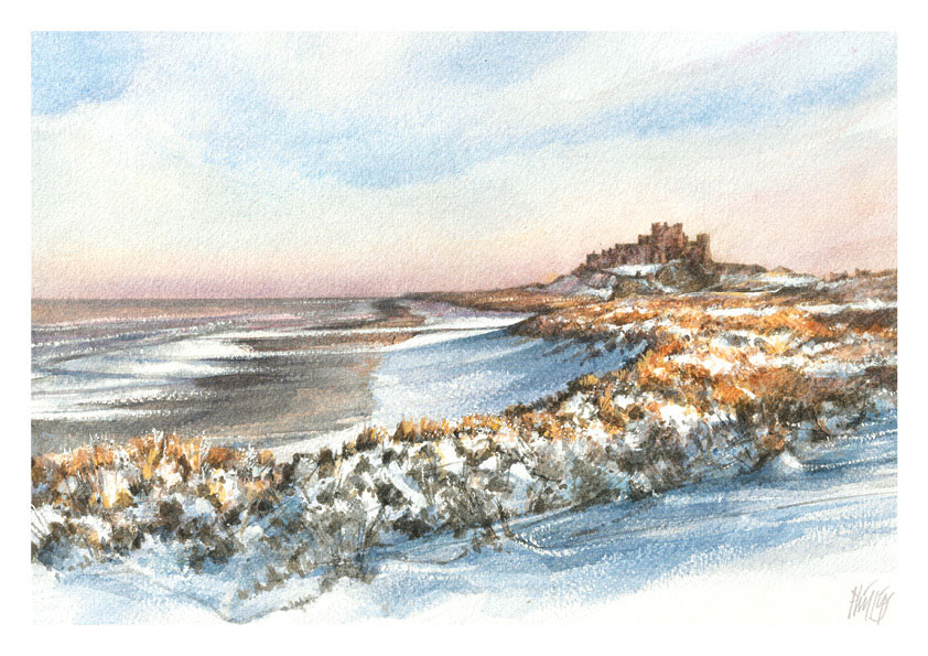 January calendar image - Bamburgh - Britain's favourite view